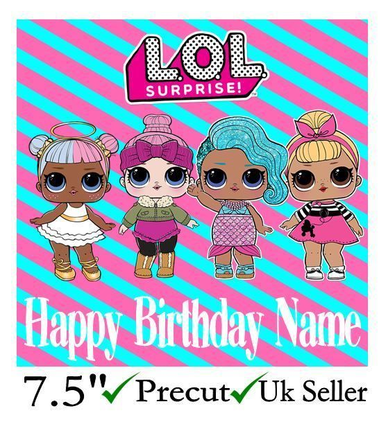 Lol Surprise Dolls Personalised Edible Icing Cake Topper